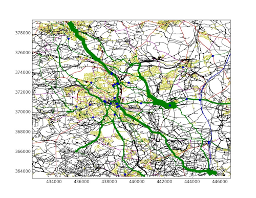 Inferred traffic levels in Chesterfield.
