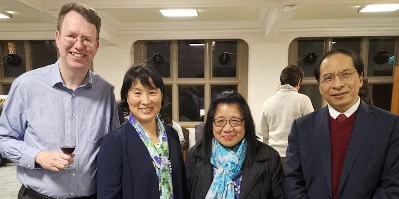 Professor Yun Yun Gong with inaugural event attendees
