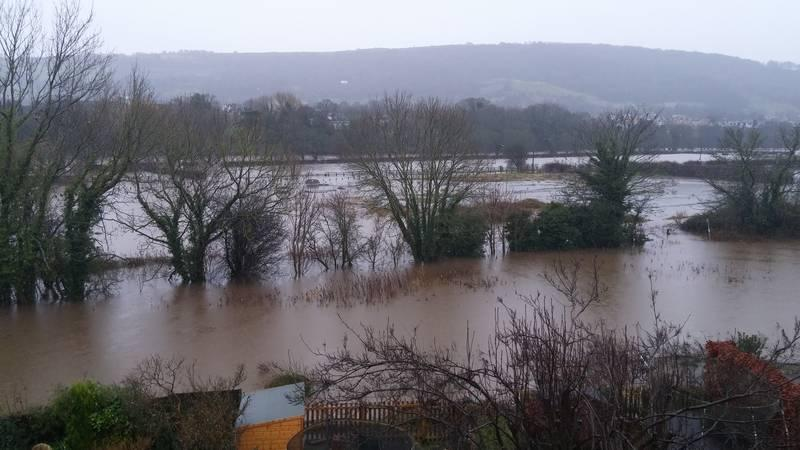 Otley under water in Boxing Day 2015 floods. Credit: Andrew Ross