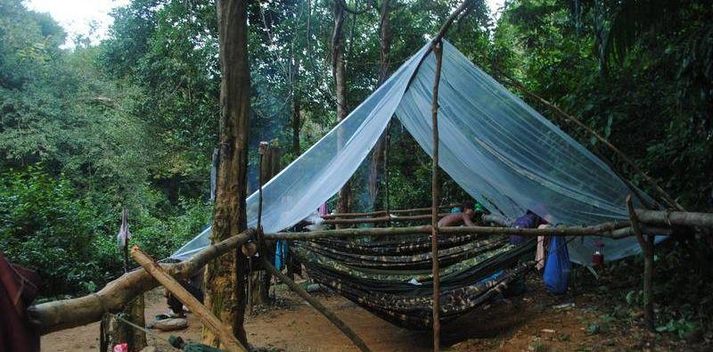 Camping in the forest in Vietnam. Credit: Suzanne Stas.
