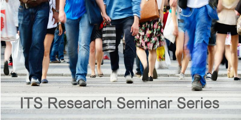 ITS Research Seminar series logo - image of walking feet