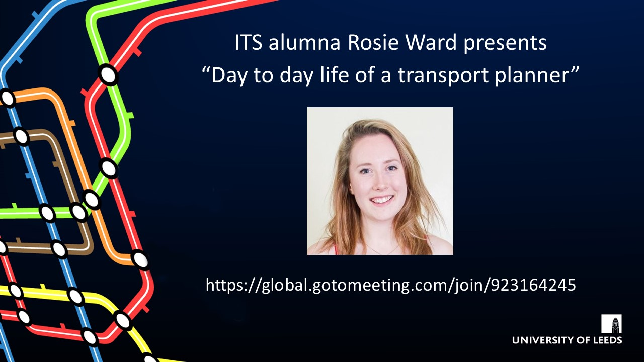 ITS Alumni Talk: Day to day life of a transport planner