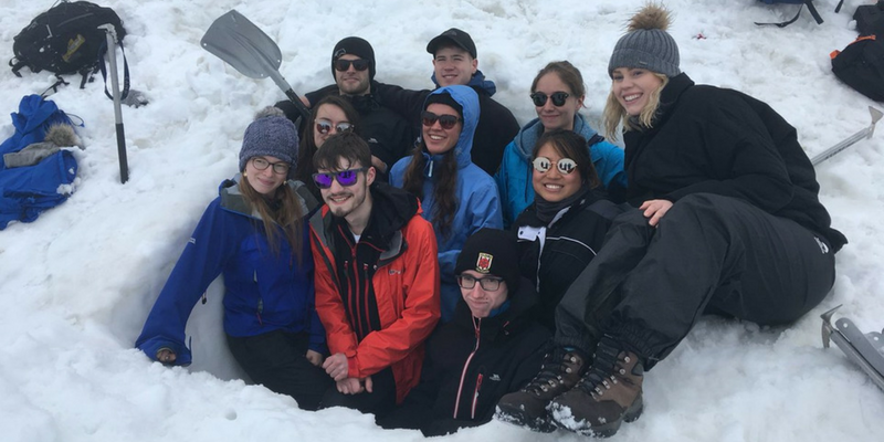 Students develop their skills in the Alps