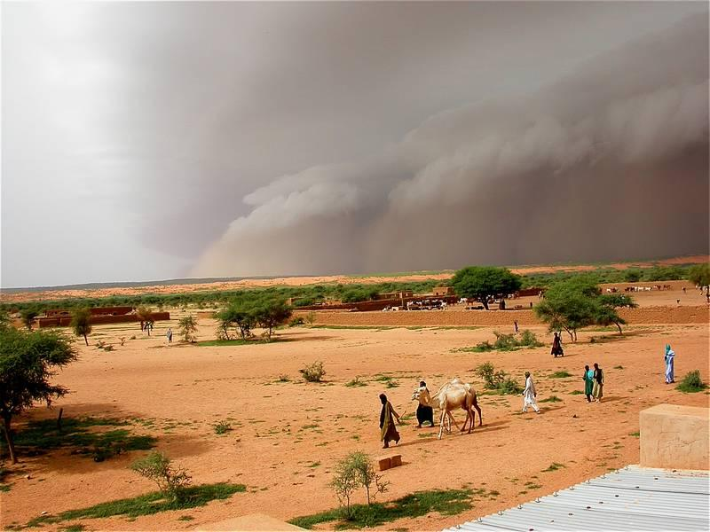 Increase in extreme West African storms due to global warming
