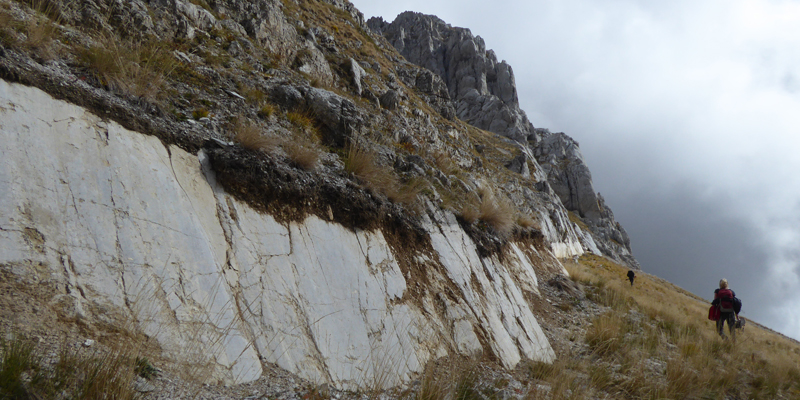 Photo of a fault slope in Italy
