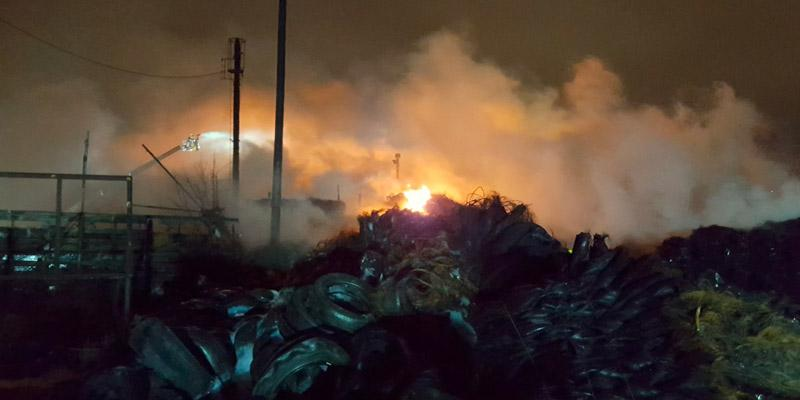Bradford tyre fire pollution 'worse than bonfire night'