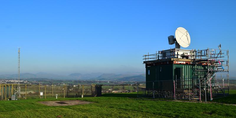Mobile X-band weather radar deployed in Cumbria to improve regional flood forecasting