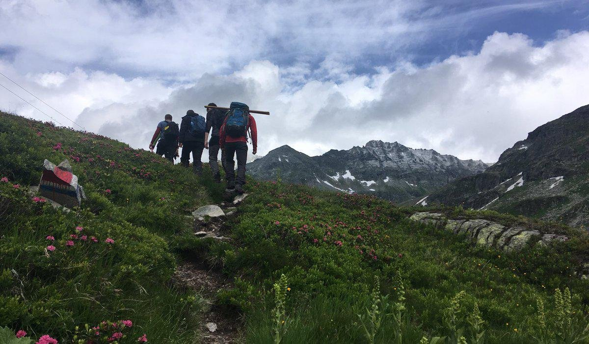 Geography students on Austrian Alps field trip