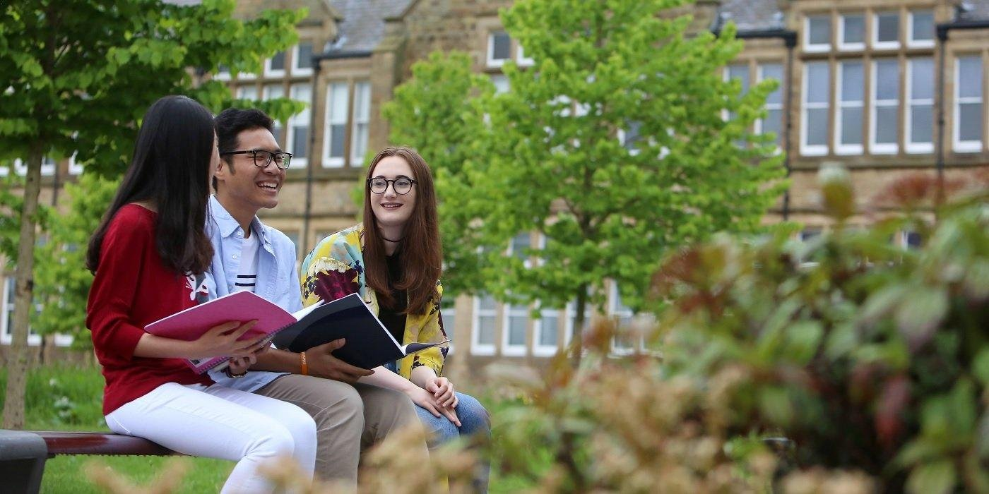 Image of international students at the University of Leeds