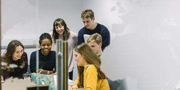 Image of students studying together