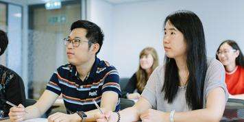 Image of students studying at the University of Leeds
