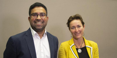 Suraje Dessai and Kate Lonsdale, UKRI Climate Resilience SPF Champions