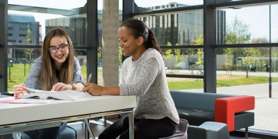 Images of students working together at the University of Leeds