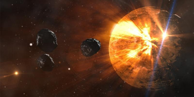 Image of asteroids