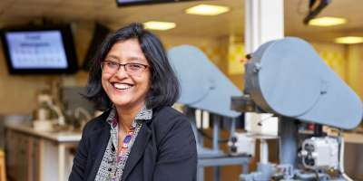 Profile picture of Dr Anwesha Sarkar in the lab