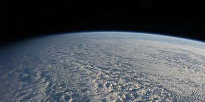 Stratocumulus clouds seen from the International Space Station.