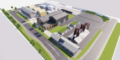 Artist render of the new Institute for High Speed Rail at the University of Leeds